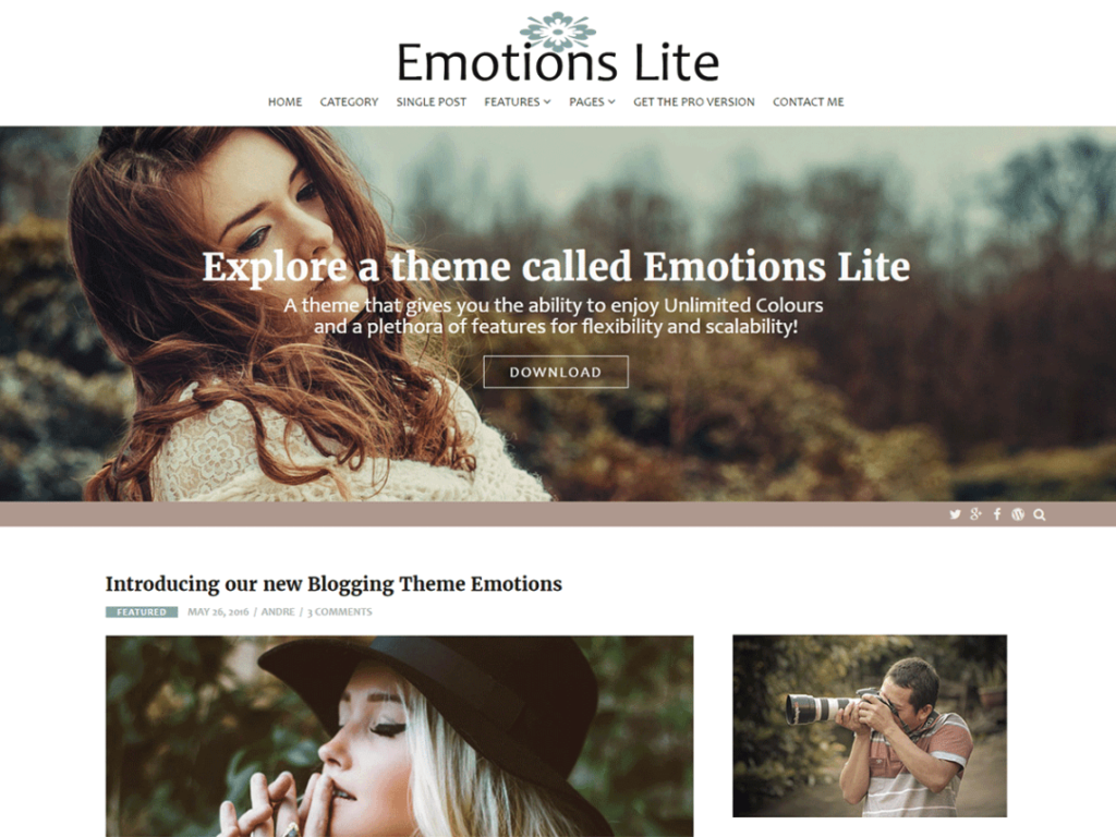 Emotions Lite tema wordpress