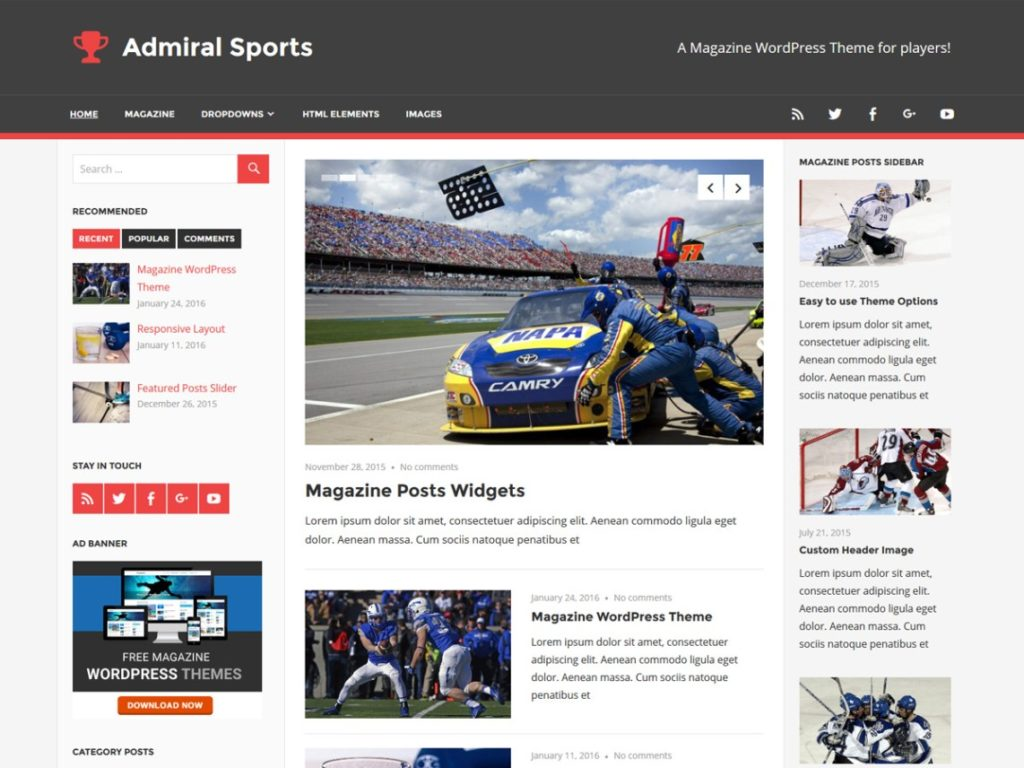 admiral tema wordpress gratis