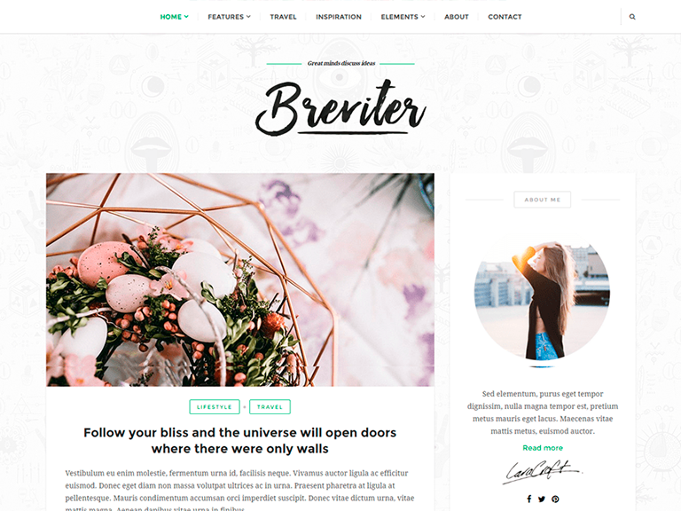 tema breviter per wordpress