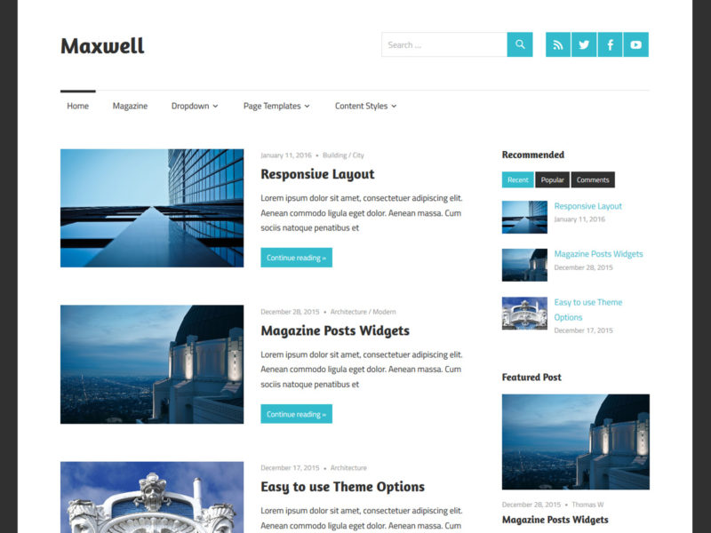 maxwell tema wordpress gratis