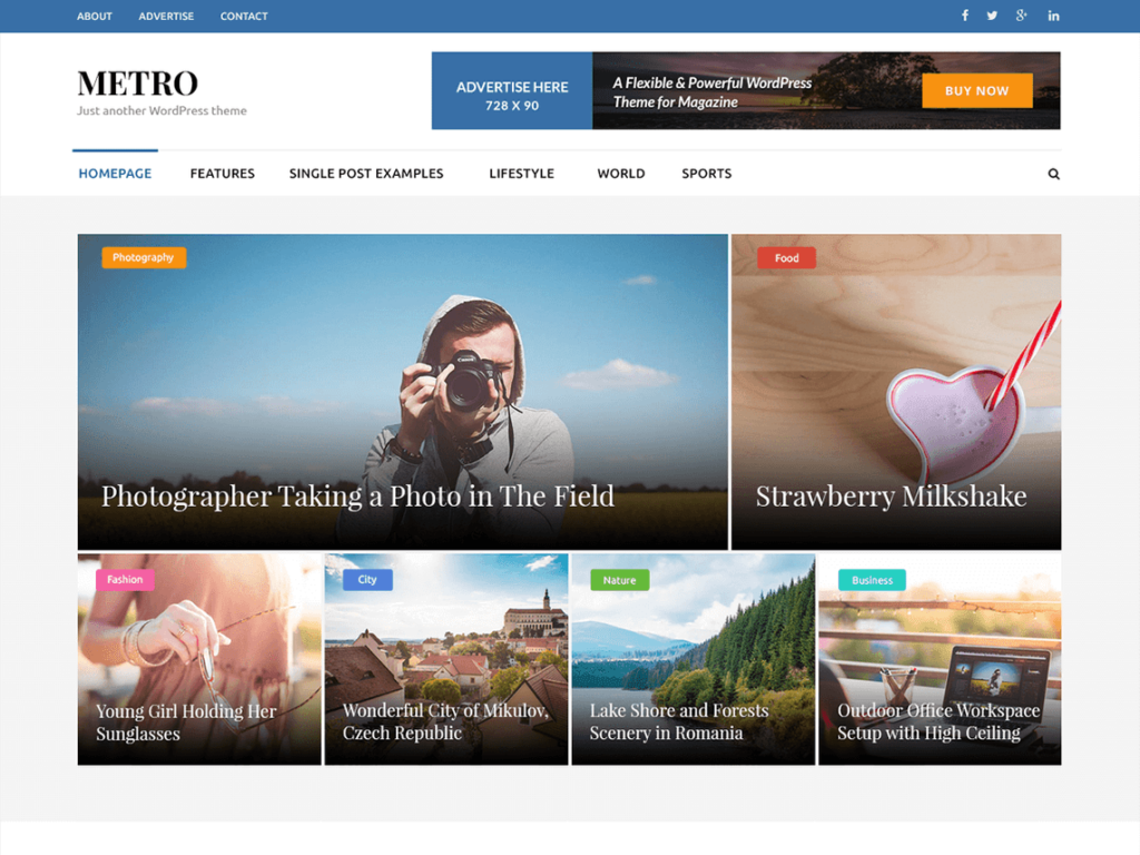 metro magazine tema wordpress gratis